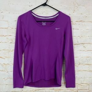 Nike Womens S Dri-Fit Contour Long Sleeve shirt